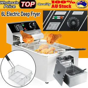 6L 2500W Commercial Electric Deep Fryer Kitchen Restaurant Frying Chip w/ Basket 741870696299