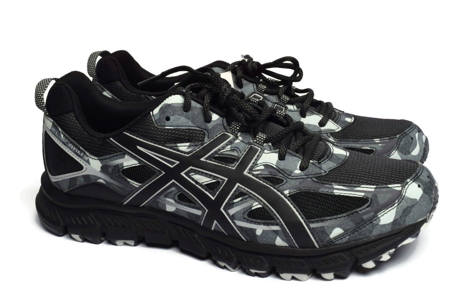 ASICS Homme Gel-Scram 3 Noir Gris Athletic Fitness Sport Running Chaussures Sz 9-13