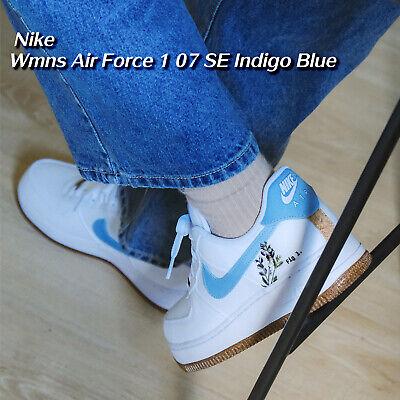 Nike Wmns Air Force 1 07 SE Indigo Blue White Plant Dye Cork Women CZ0269-100 | eBay