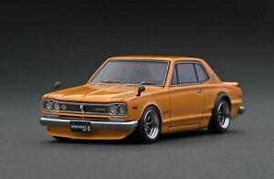 1:43 Nissan Skyline 2000 GT-R (KPGC10) -- Brown -- Ignition Model IG1931