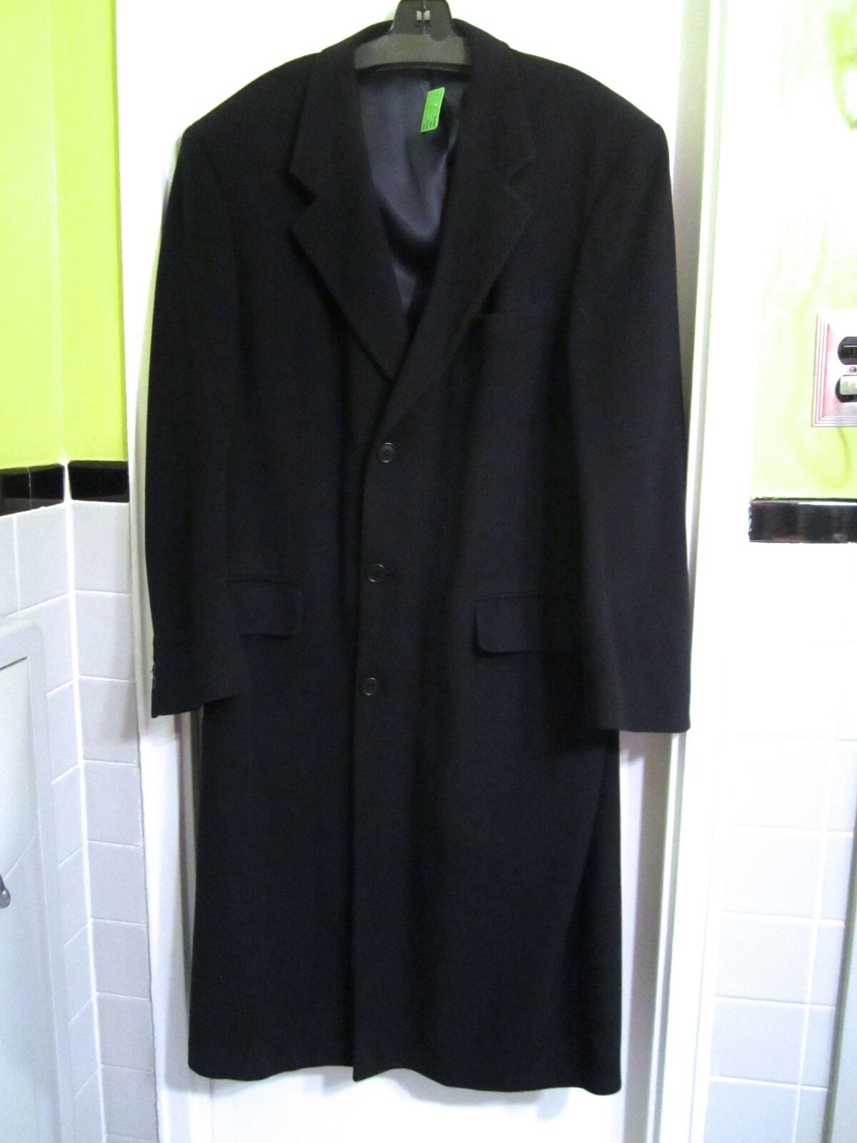 Bill Blass Navy bluee Cashmere Coat 42 R --Excellent Condition