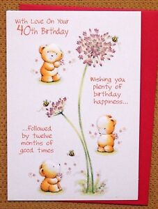 Image Is Loading Female Ladies Age 40 Birthday Card 40th