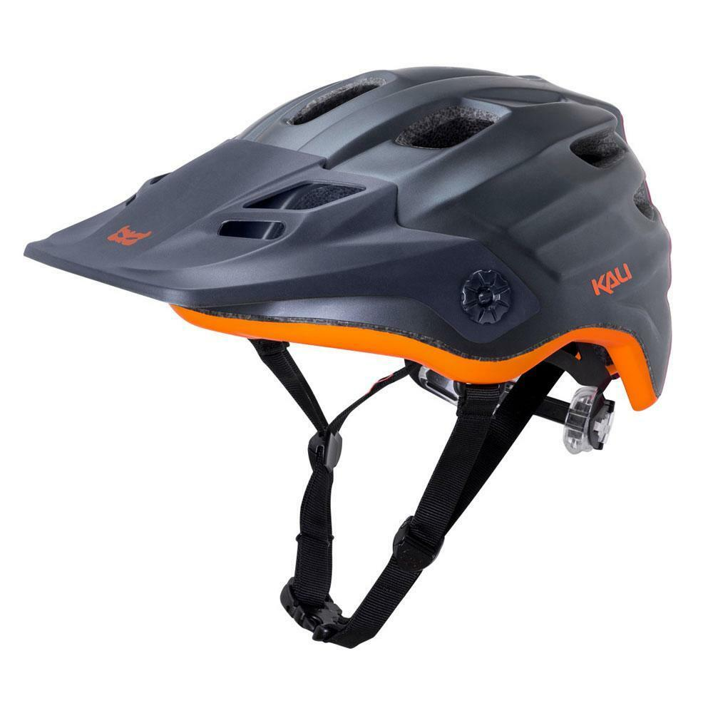 All Mountain Enduro MTB cycle helmet Kali Maya Gunmetal orange