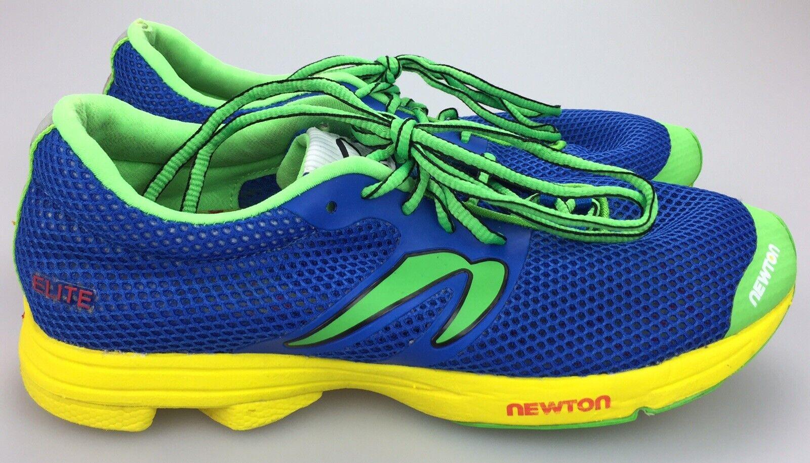 Newton Elite damen's Größe 10 Gelb Blau Running Athletic schuhe W008216