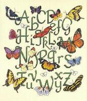 Butterfly Alphabet Cross Stitch Picture Kit Butterflies & Letters