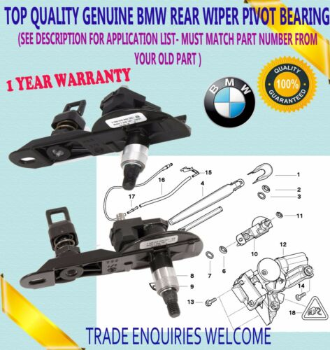 FOR GENU BMW SWIPE AXLE BEARINGS STORAGE REAR BLADE ORIGINAL 3ER E91 5ER E61 LCI