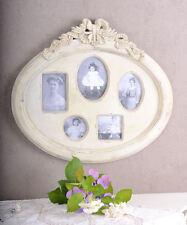 Gigante Cornice per Foto per 5 foto Biedermeier Stile Bianco Aspetto Antico