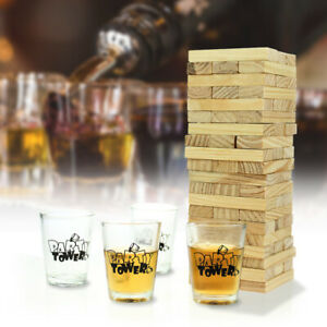 Giochi-Alcolici-Blocchi-di-Legno-Torre-Dondolante-Giochi-di-Abilita-da-Bere