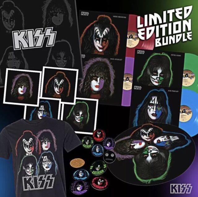 Kiss Solo Albums 40th Anniversary Colored Vinyl Box Set 4 KOL LPs 1/300 XL Shirt