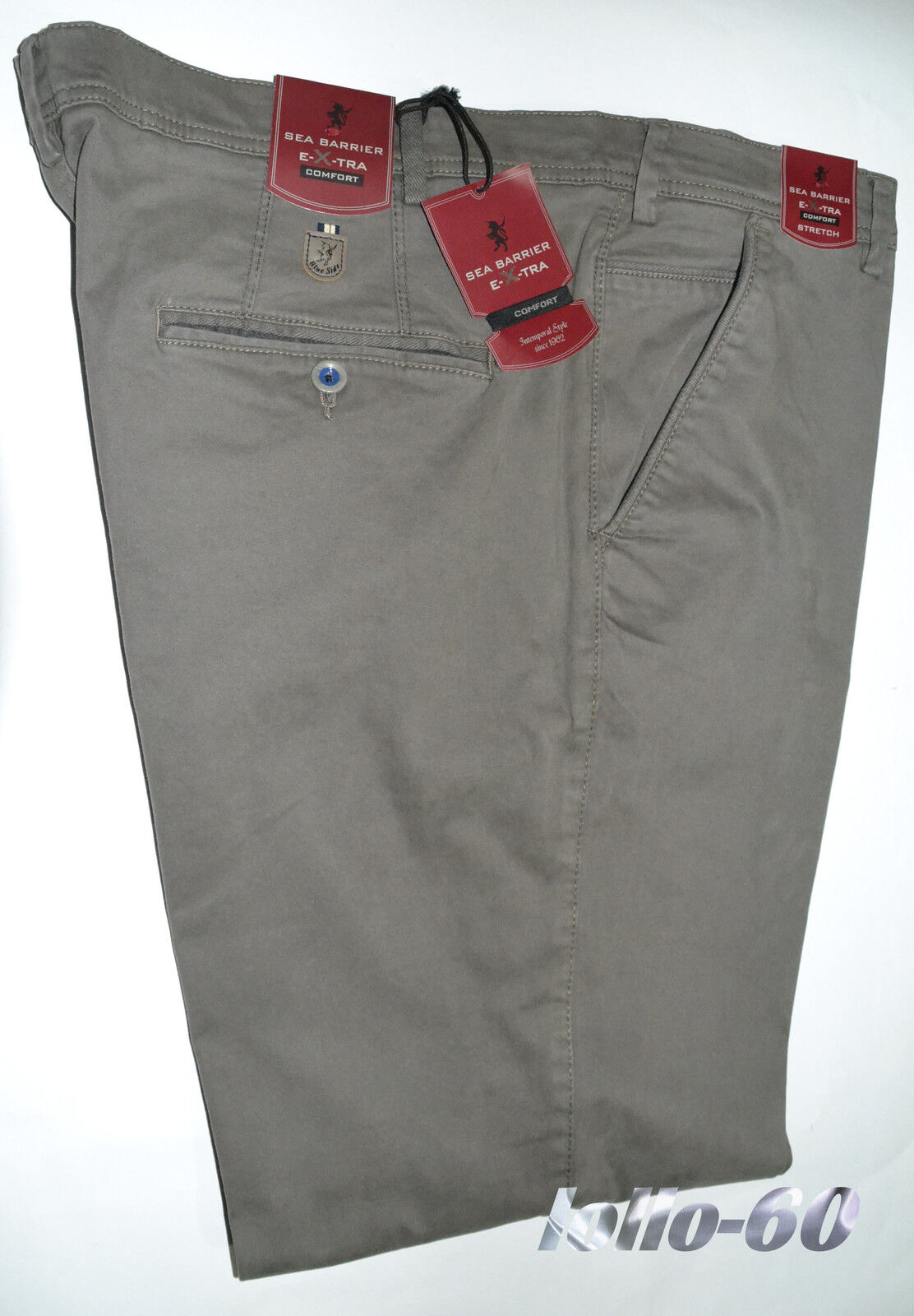 Herrenhosen Übergröße Größe 67 Baumwolle heiß elastisch kalibriert beige