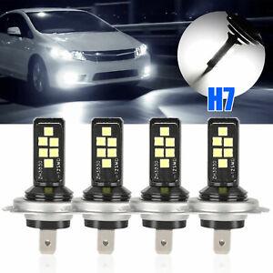 4PCS-H7-H7-Combo-LED-Front-Headlight-Kit-Fog-Light-Bulbs-High-Low-Beam-6000K