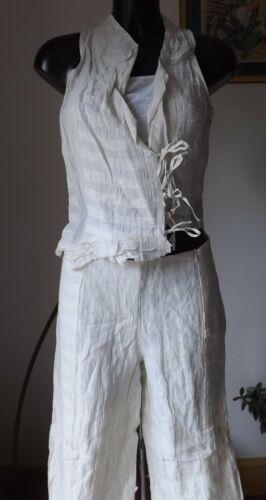 top Craie Sarah Women Rayon Linen Pra 1662 Color Cotton Sp Pacini vest Wear ZwOOvFf