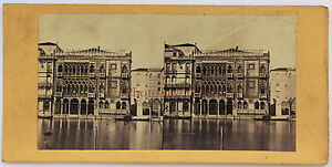 Italia Venezia Ca' D'Oro Stereo Vintage Albumina Ca 1860