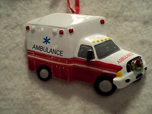 KSA-034-AMBULANCE-034-Ornament-New-GREAT-STOCKING-STUFFER-For-Personalization