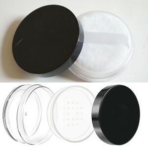0296589f4612 Details about Plastic Loose Powder Jar Powder Puff Boxes Empty Cosmetic  Container Case 50g