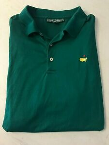 Masters-Collection-Mens-Golf-Polo-Shirt-Green-Pima-Cotton-Size-XL