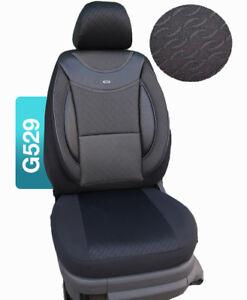 Schwarze Sitzbezüge für NISSAN PRIMERA Autositzbezug VORNE NUR FAHRERSITZ