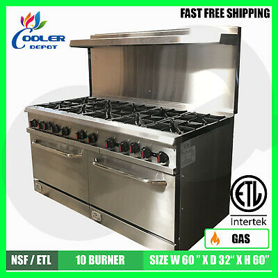 10 Burner Oven Range 60\