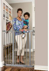 Extra-Tall-Platinum-41-Walk-Through-Baby-Gate-Pressure-Mount-W-Extension-Kit