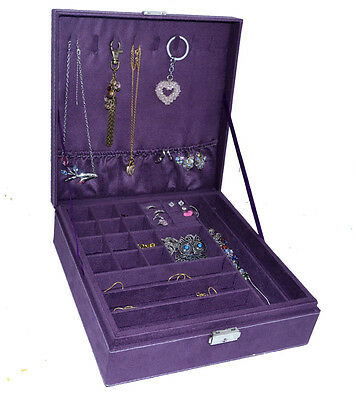 Schmuckkasten Schmuckkästchen Schmuckkoffer Jewellery Aufbewahrung Box Kasten