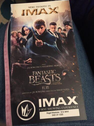 Fantastic Beasts Regal VIP Premier #'d Oversized Ticket