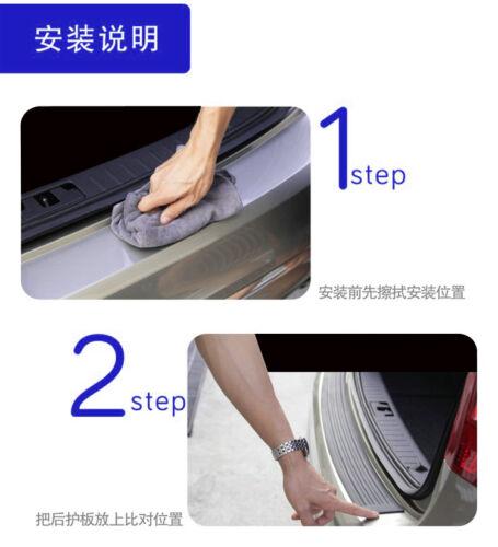 NEW Universal Car Rear Body Guard Bumper Protector Trim Cover Anti-scrape Rubber