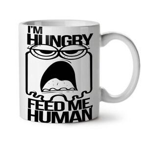 Feed Me Human Joke NEW White Tea Coffee Mug 11 oz   Wellcoda