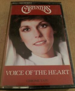 Carpenters-Voice-Of-The-Heart-Vintage-Tape-Cassette-Album-from-1983