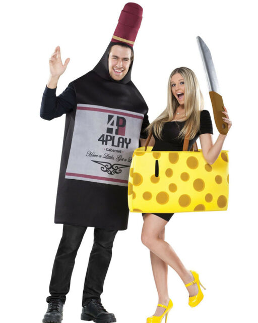 Perfectly Paired Cheese And Wine Couples Costume Size STD
