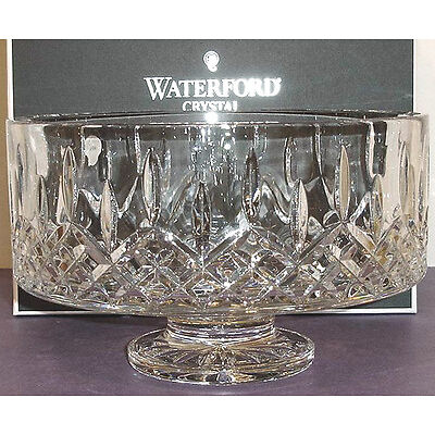 """Waterford Lismore Simplicity 10"""" Footed Bowl Crystal Made in Ireland New In Box"""