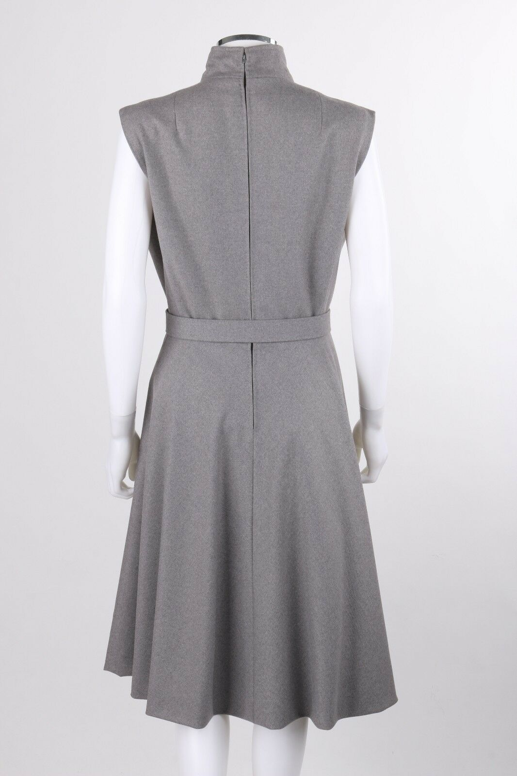 PAULINE TRIGERE c.1980's Gray Wool Extended Shoul… - image 4