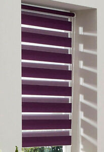 klemmfix rollo doppelrollo duo rollo lila lavendel my home 40 120 cm breit ebay. Black Bedroom Furniture Sets. Home Design Ideas