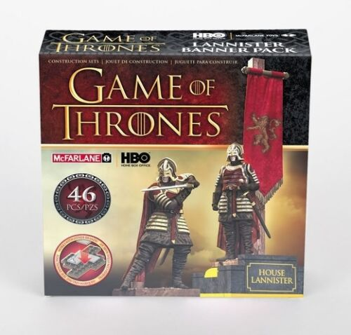 """JUEGO DE TRONOS /"""" LANNISTER BANNER PACK /"""" CONSTRUCTION SET GAME OF THRONES NEW"""