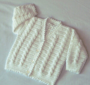 Crochet Patterns For Baby Clothes : BABIES/CHILDRENS CARDIGAN CROCHET PATTERN NO.95 ...