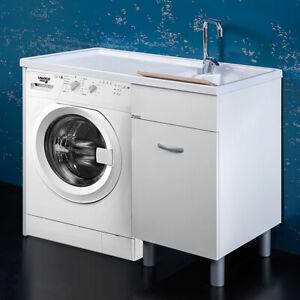 Details Sur Meubles Pour Salle De Bains Laverie Meuble Machine A Laver 106x60xh90 Sirena