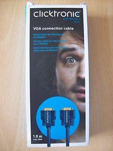 Câble Vga Câble De Raccordement 1 Mètre Neuf En Boîte Et Scellé-afficher Le Titre D'origine éLéGant Dans Le Style