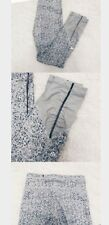 LULULEMON Rare animal print ankle scrunch Gray Print Yoga Running Legging Pant 6