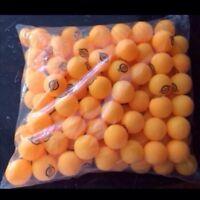 100 Orange Ping Pong Balls