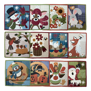 Details About Wooden Bear Little Quilts Squared Calendar Series Applique Quilt Pattern Woolies