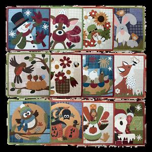 Wooden Bear Little Quilts Squared Calendar Series Applique Quilt Pattern Woolies