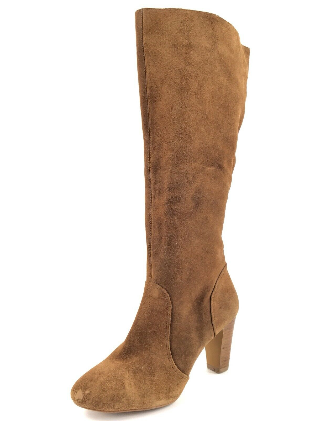 Sole Society Brandi Tan Suede Knee High Boots Women's Size 9 M *