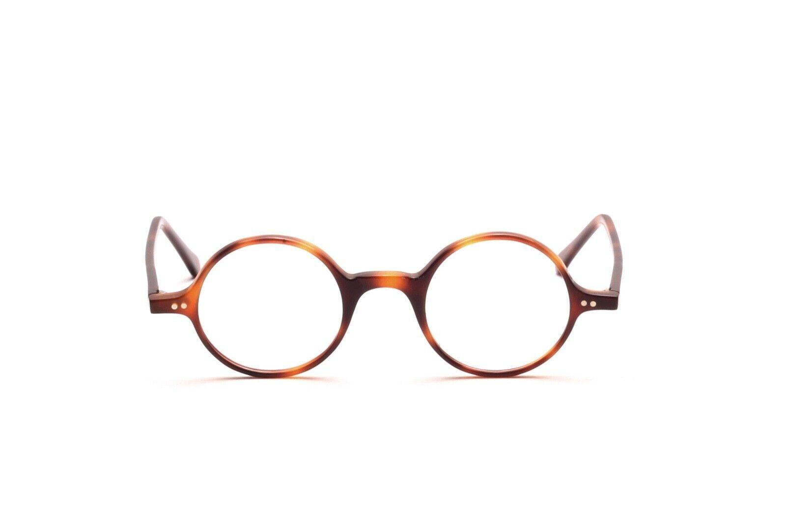 Runde Brille Fassung in Havanna von 38 mm bis 46 mm Mod. 1410, Made in Italy