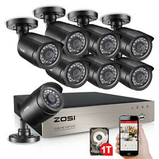 ZOSI 8CH 1080p HDMI DVR 720p IR-cut Outdoor CCTV Camera Home Security System 1TB