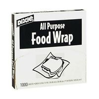 Dixie All Purpose Food Sandwich Deli Wrap 12 X 12 - 1000 Sheets - Microwaveable