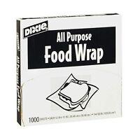 Dixie All Purpose Food Sandwich Deli Wrap 12 X 12 - 1000 Sheets - Microwaveable