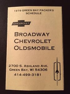 Charming Image Is Loading Green Bay Packers 1979 NFL Pocket Schedule Broadway