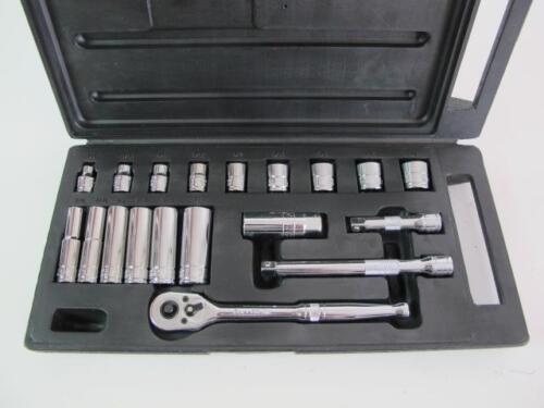 "Fuller Pro 20 Piece MINT Standard 3//8/"" Drive Sockets Ratchet Extensions SAE Set"