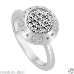 BRAND-NEW-TOM-FORD-for-GUCCI-WHITE-GOLD-RING-with-DIAMONDS-sz-6-5