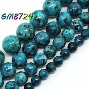 Natural-Blue-Spot-Stone-Beads-for-Jewelry-Making-Round-Loose-Beads-15-039-039