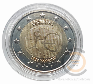 2009 Luxemburg 2 Euro 10 Jahre Ewu Euromünze Commemorative Coin